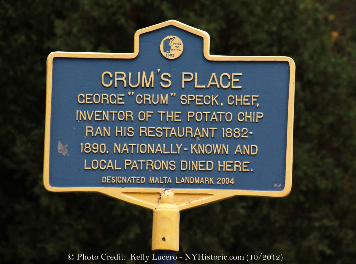 george crum George crum isn't nearly as well known as the potato chip, but maybe he should  be  crum had no patent for the potato chip he never mentioned the potato   he invented more than 300 products involving the peanut that.