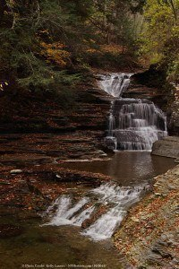 falls in autumn - enfield glen mill