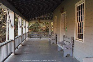 porch seating - enfield glen mill