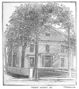 1891 drawing of the academy - macedon academy